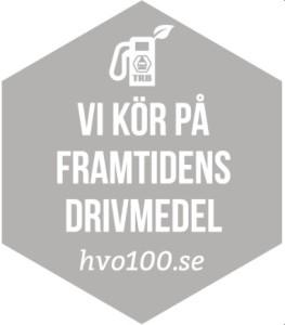 HVO100 -logga grå-vit